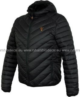 Fox Bunda Collection Quilted Jacket Black Orange veľ.L